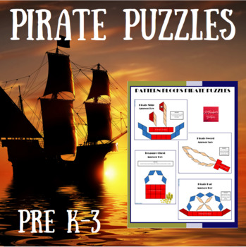 Pattern Blocks Pirate Puzzles