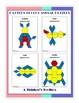 Pattern Blocks Puzzles 1st Grade Bundle