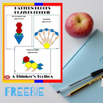 Pattern Blocks Puzzles FREEBIE