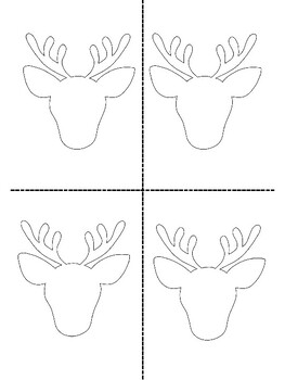 Pattern Blocks Reindeer- Cool Christmas Craft with Shape Patterns