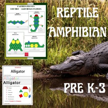 Pattern Blocks Reptiles and Amphibian Puzzles