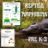 Reptiles and Amphibian Math & Science Puzzles