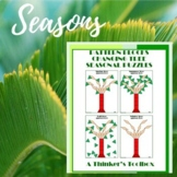 Pattern Blocks Seasonal Tree Puzzles