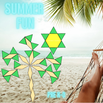 Pattern Blocks Summer Puzzles