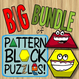Pattern Blocks Through the Year ~ the BIG Bundle of Pattern Block Puzzles