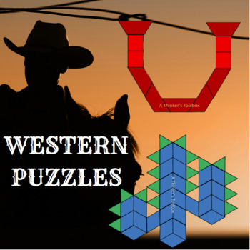 Pattern Blocks Western Puzzles