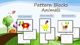 Pattern Blocks - Wild, Pets, Farm Animals