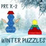 Pattern Blocks Winter Puzzles