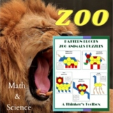 Zoo Animals Math & Science Puzzles