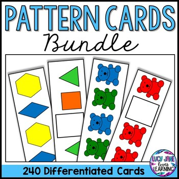 Pattern Blocks and Colored Bear Pattern Cards Bundle