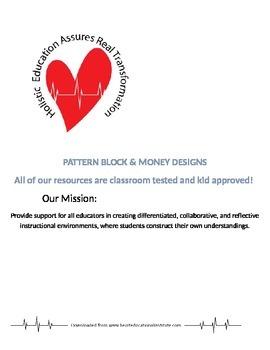 Pattern Blocks and Money Designs