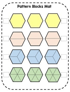 Adding and Subtracting Fractions with Pattern Blocks Lesson Materials