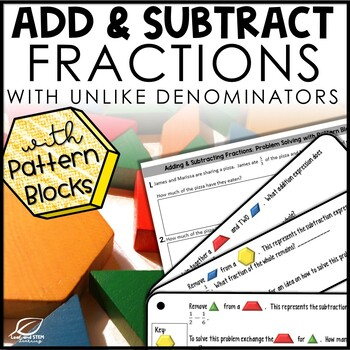 Adding and Subtracting Fractions with Pattern Blocks Lesso
