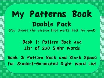 Pattern Books/Personal Dictionaries
