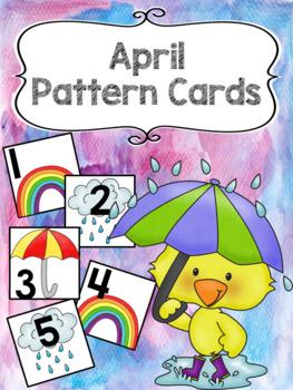 Pattern Calendar Cards (April)