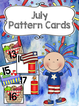 Pattern Calendar Cards (July)