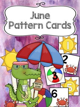 Pattern Calendar Cards (June)