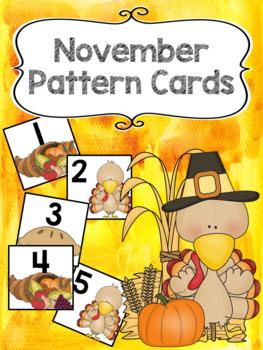 Pattern Calendar Cards (November)