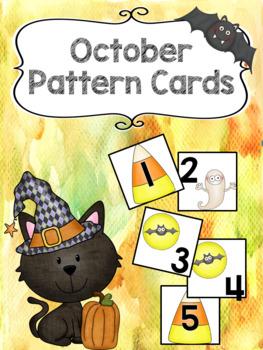 Pattern Calendar Cards (October)