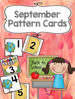 Pattern Calendar Cards (September)