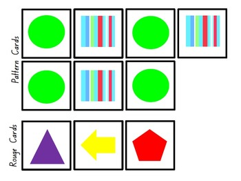 Pattern Problems and Worksheets - 45 Problems = 375 Cards!