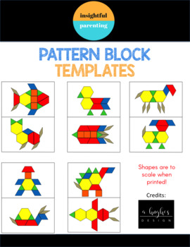 Pattern Card Template Task Cards (prints to size)