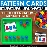 Pattern Cards | Includes AB, AAB, ABB, ABC, AABB Patterns