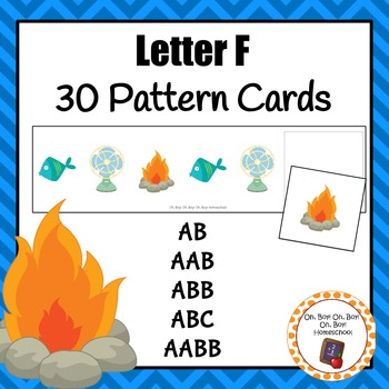 Pattern Cards: Letter Ff Pattern Cards