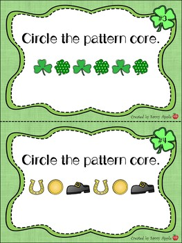 Repeating Pattern Task Cards for St. Patrick's Day