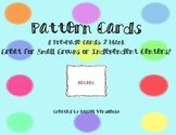 Pattern Cards for Centers