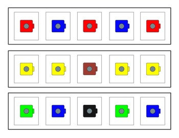 Pattern Cards for Snap Cubes