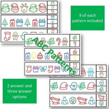 Pattern Clip Cards Christmas