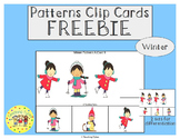 Winter Patterns Task Clip Cards Winter FREEBIE