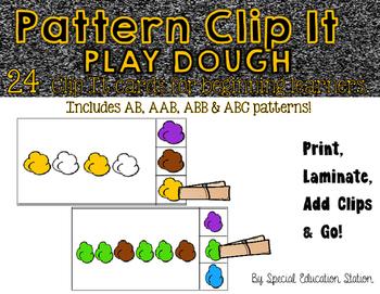 Pattern Clip It- PLAYDOUGH