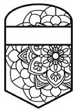 Pattern Coloring Pennant, Name Banner, Mandala Style, Set 26, Classroom Decor