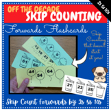 Pattern/Skip Counting by 2s 5s and 10s (Off the Decade) FORWARDS Flash cards