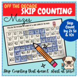 Pattern/Skip Counting by 2s 5s and 10s (Off the Decade) Mazes