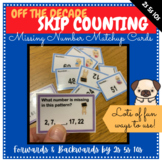 Pattern/Skip Counting by 2s 5s 10s (Off the Decade) Missing Number MATCHUP Cards