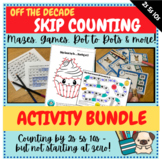 Pattern Counting by 2s 5s and 10s (Skip Counting Off the Decade) Activity BUNDLE
