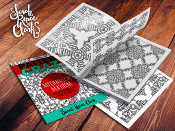 Pattern Crazy: Mecanical Mayhem - Printable Adult Coloring Book   45 pages