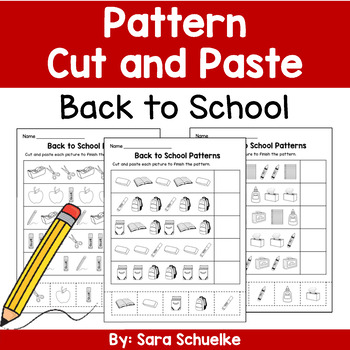 Pattern Cut and Paste - Back to School