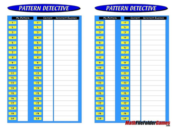 Pattern Detective: Math Games Patterns
