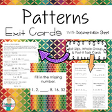 Patterns: Exit Slips, Task Cards, and Whole Group