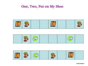 Pattern Game - One, Two, Put On My Shoe