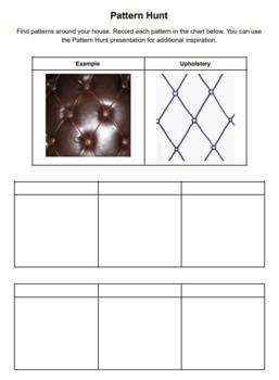 Pattern Hunt Worksheet
