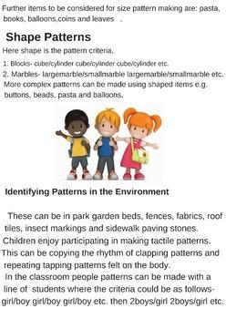 Pattern Ideas K - Y3