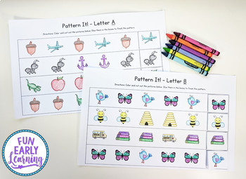 Pattern It! Letters A-Z - No Prep Interactive Worksheets