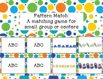 Pattern Match!  Pattern matching game for small group