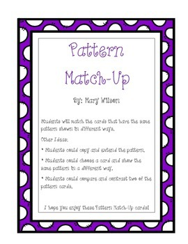 Pattern Match-Up