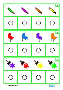 Basic Concepts Pattern Matching Colors Nouns Autism Special Education